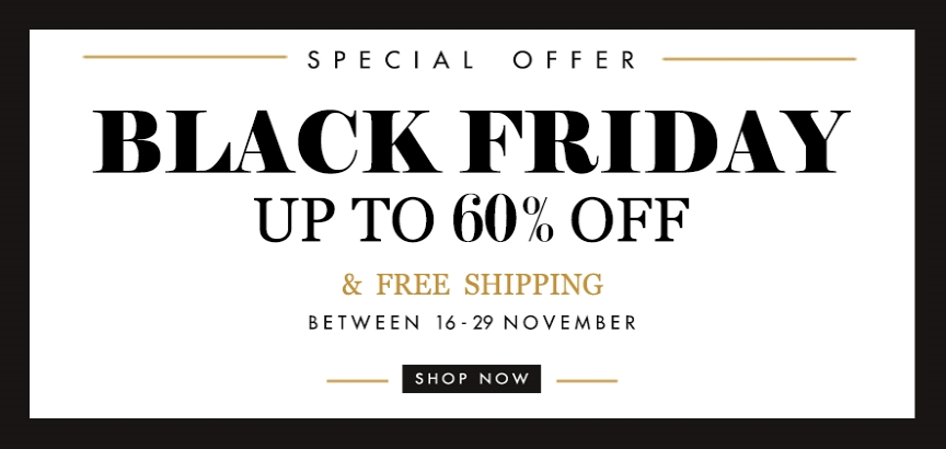 Special Offer Black Friday Up to 60% Off and Surprise Gifts