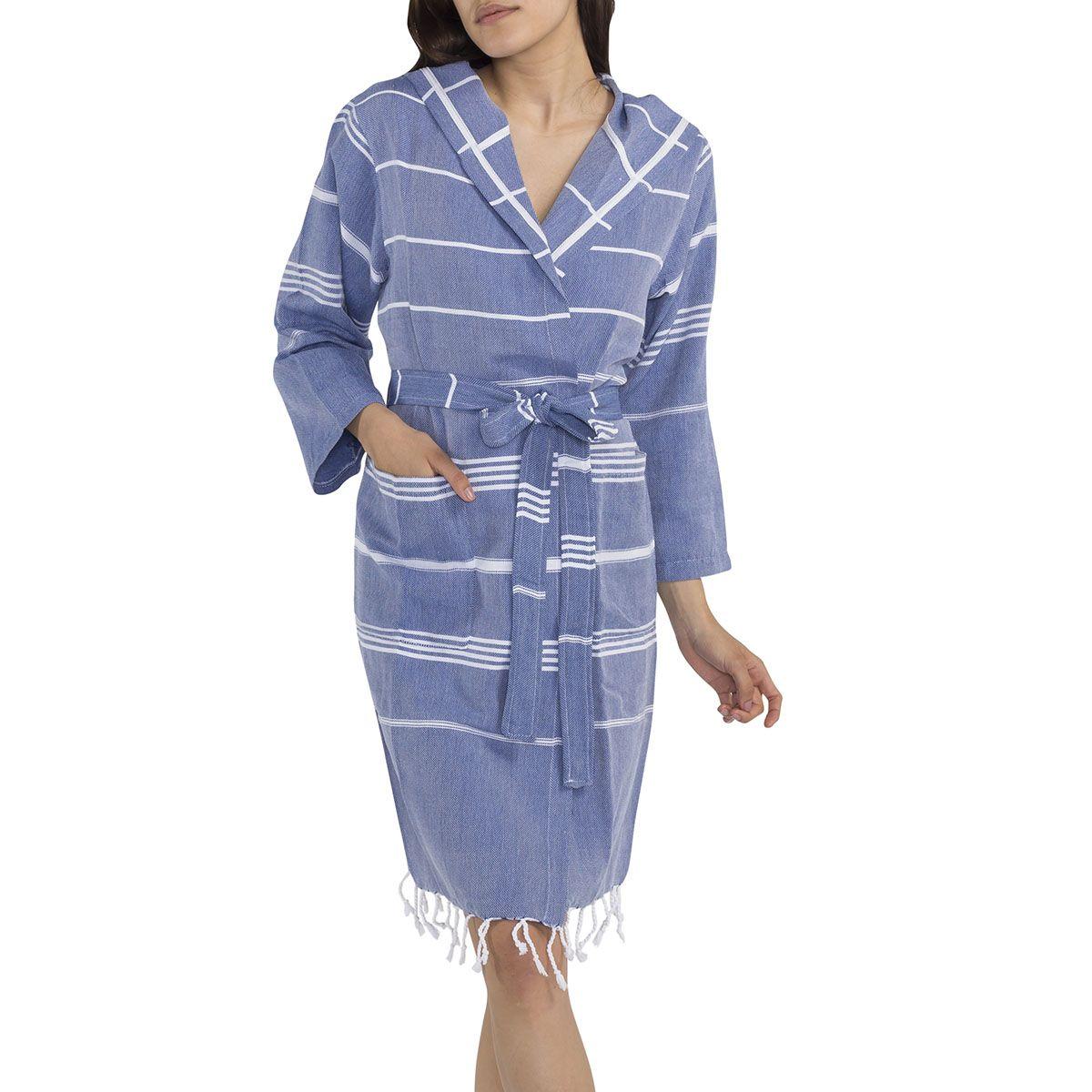 Bathrobe Leyla CP - Royal Blue