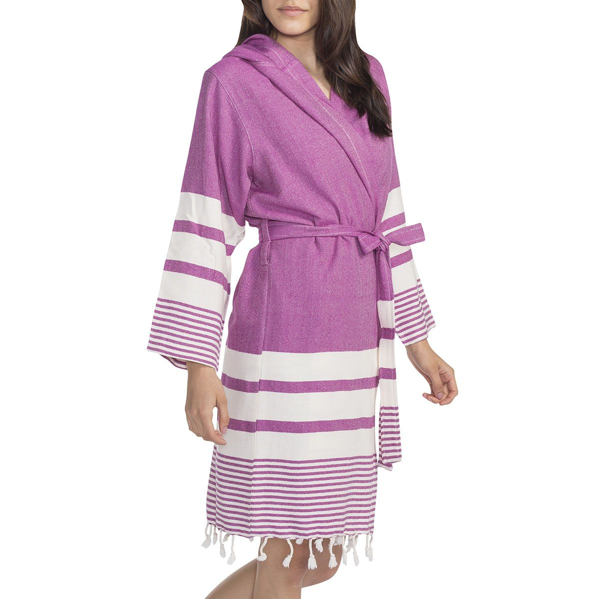 Bathrobe Tabiat with hood - Purple