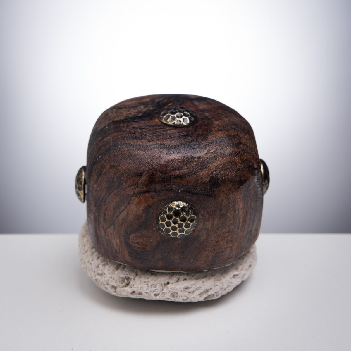 Pumice Stone - Covered with Walnut Wood