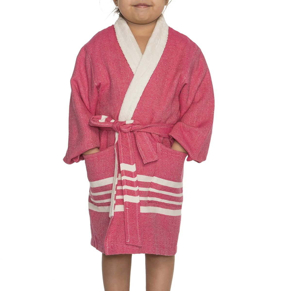 Bathrobe Kiddo Terry - Fuchsia