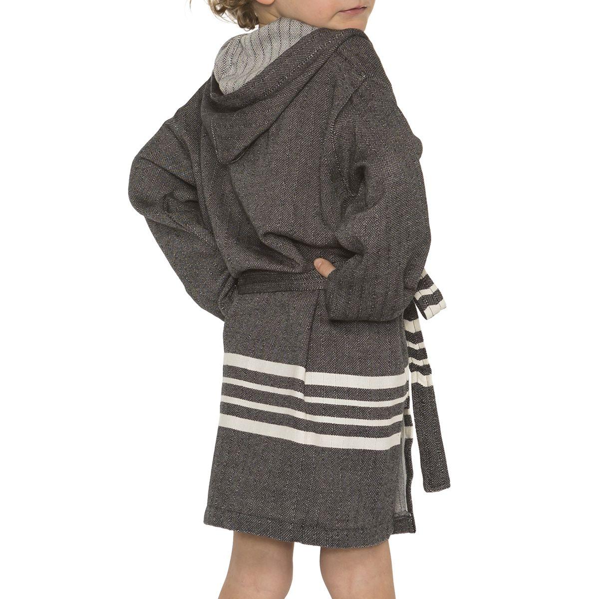 Bathrobe Kiddo with hood - Black