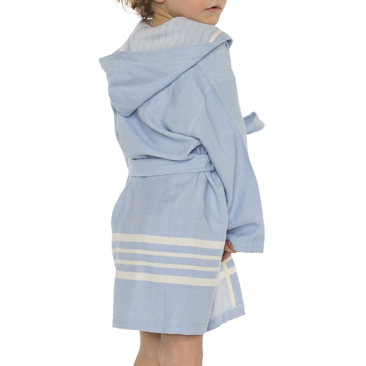 Bathrobe Kiddo with hood  - Blue