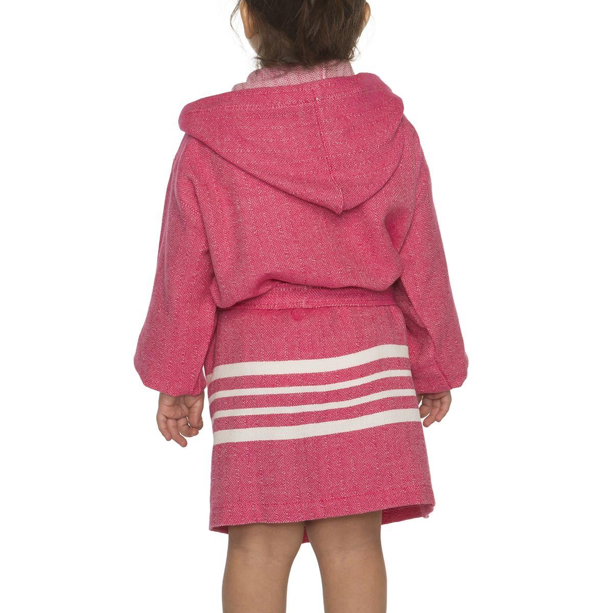 Bathrobe Kiddo with hood - Fuchsia