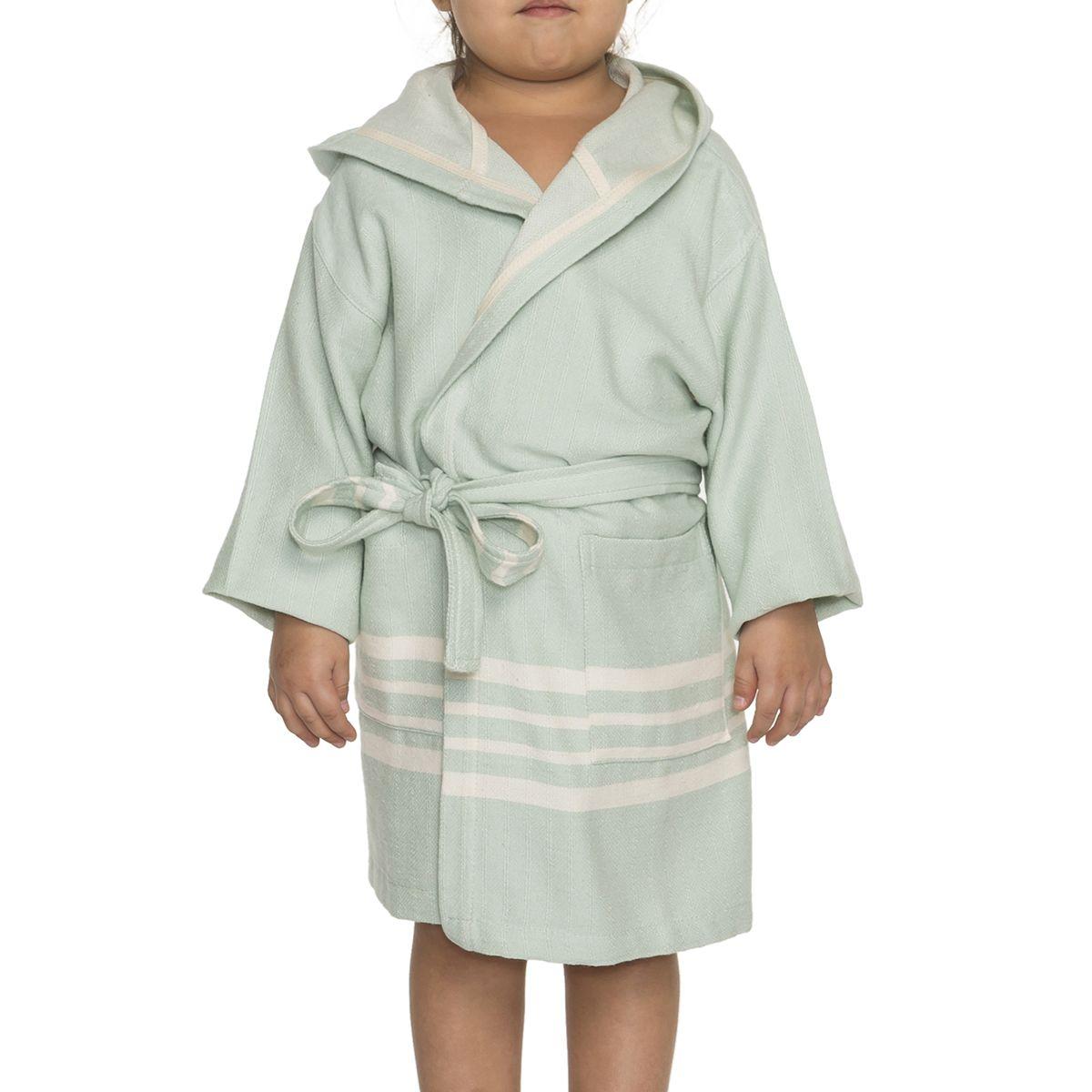 Bathrobe Kiddo with hood - Mint