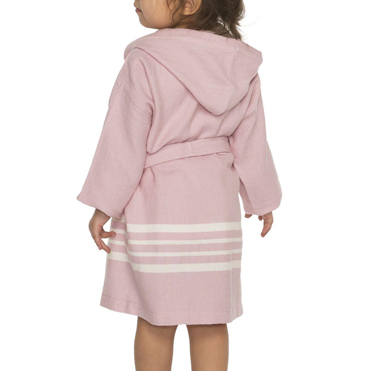 Bathrobe Kiddo with hood - Rose Pink