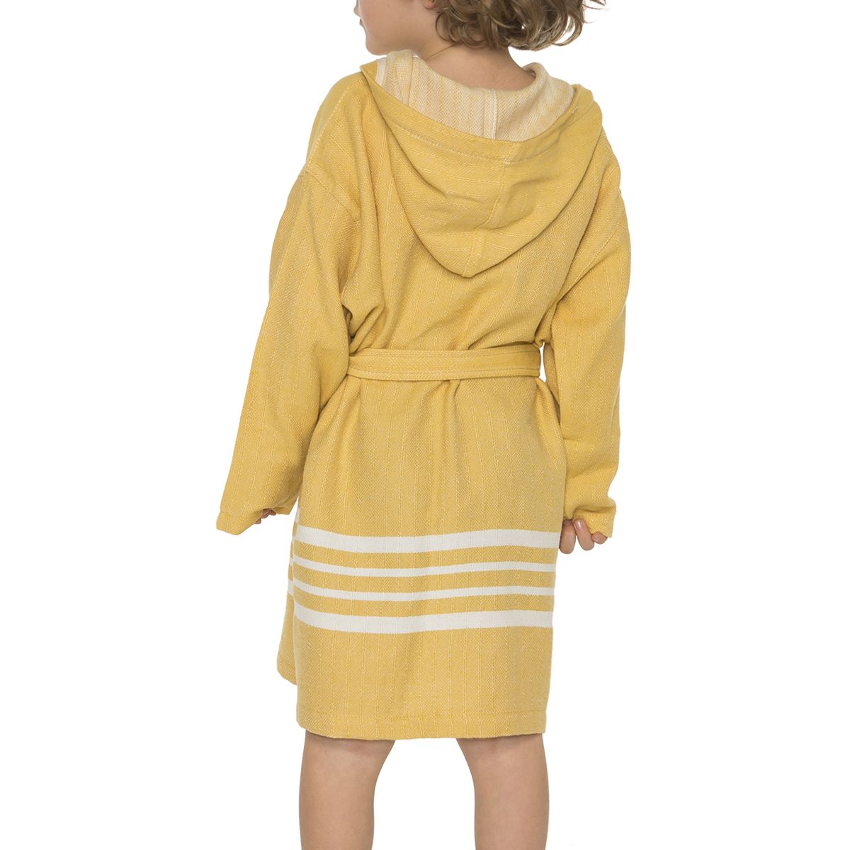 Bathrobe Kiddo with hood - Yellow