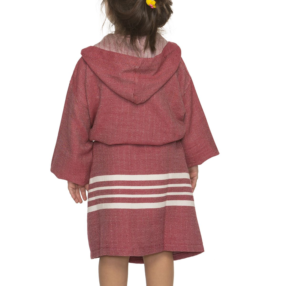 Bathrobe Kiddo with hood - Bordeaux