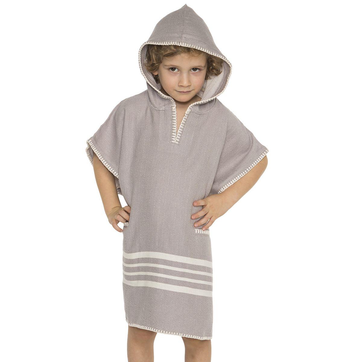 Poncho Kiddo / Sultan -Light Grey