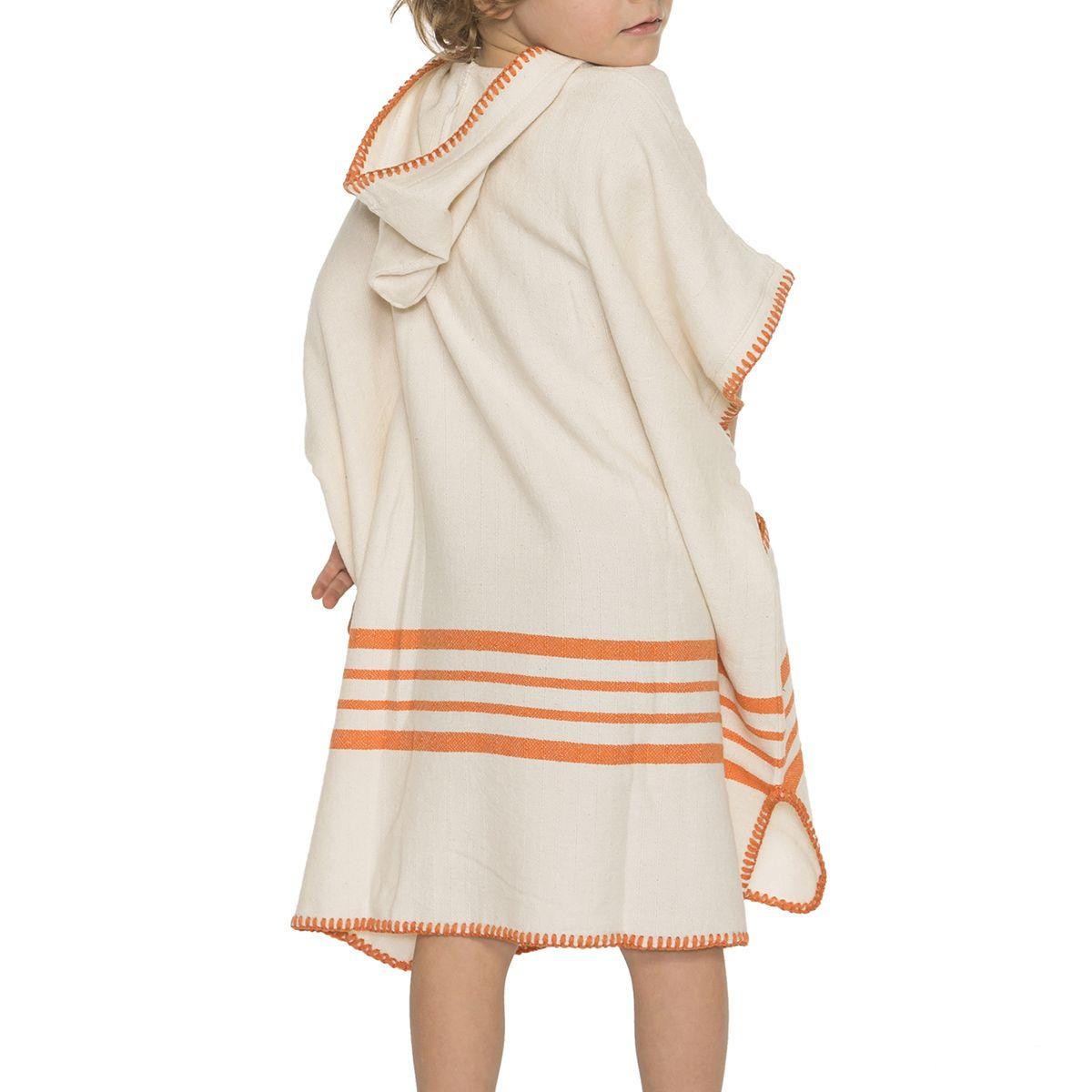 Poncho Kiddo / Sultan - Orange Stripes