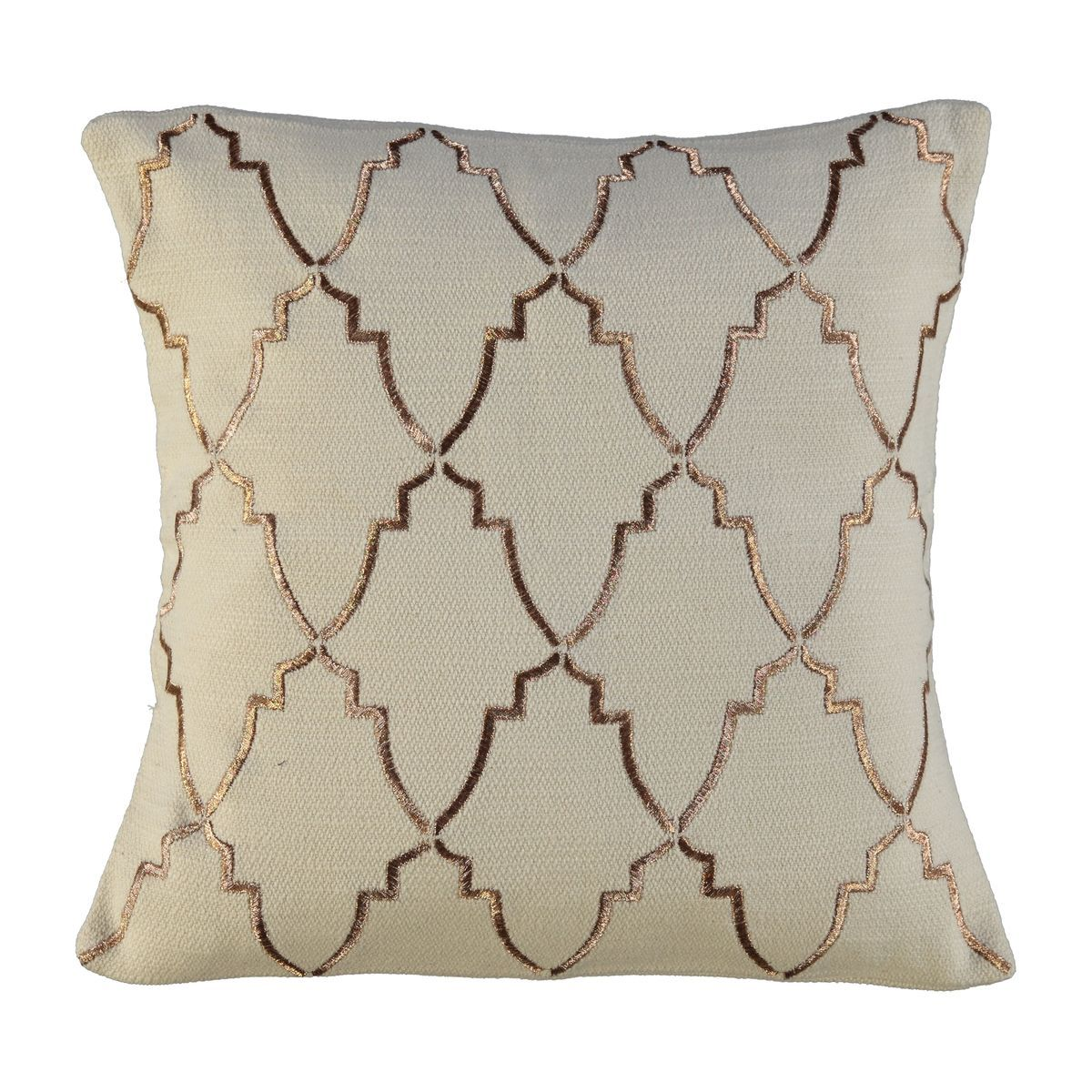 Cushion Cover / Damask - Copper embroideried