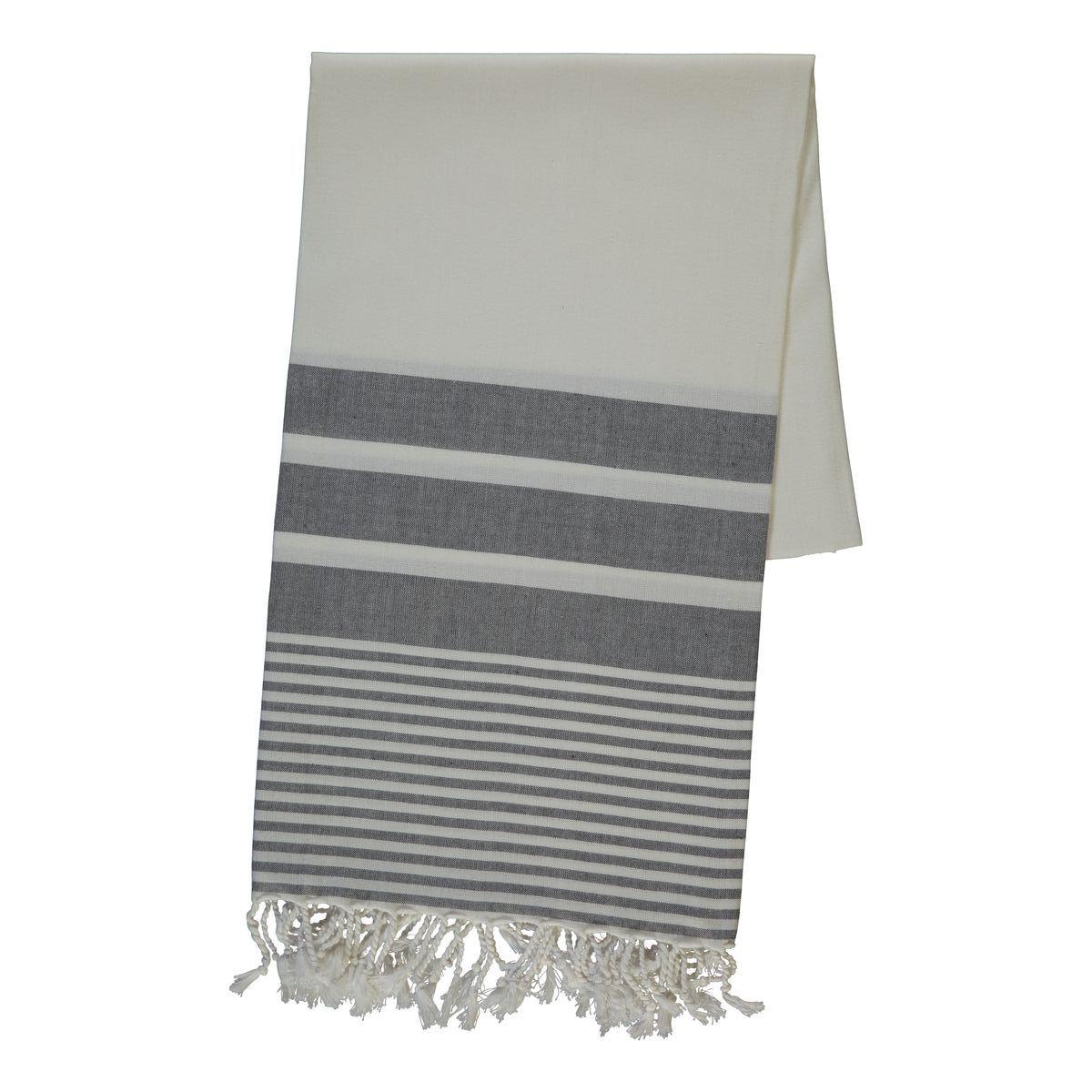 Peshtemal BAMCOT - Dark Grey Stripes