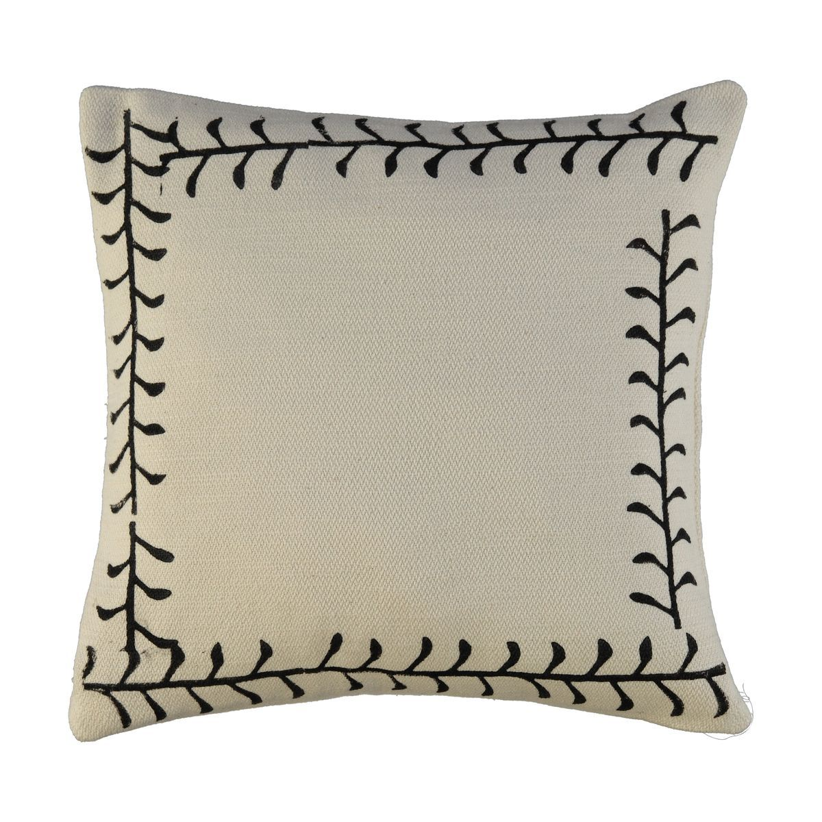 Cushion Cover / 16 Hand Printed - Black