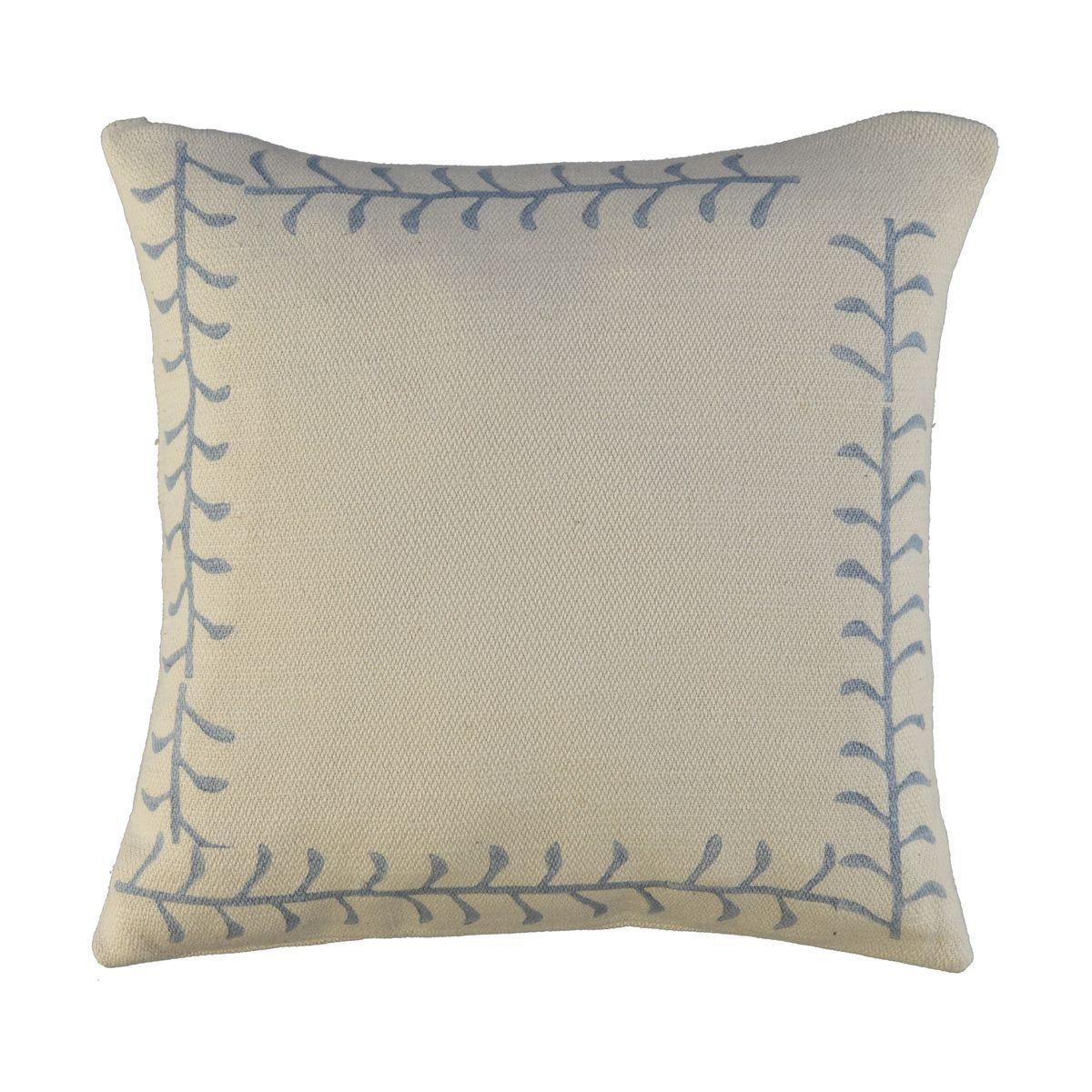 Cushion Cover / 16 Hand Printed - Blue