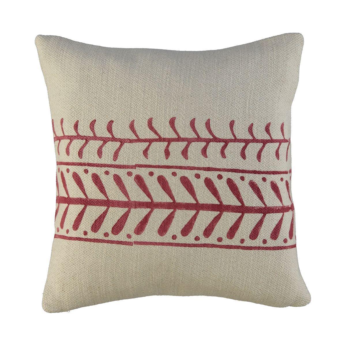 Cushion Cover / 15 Hand Printed - Bordeaux