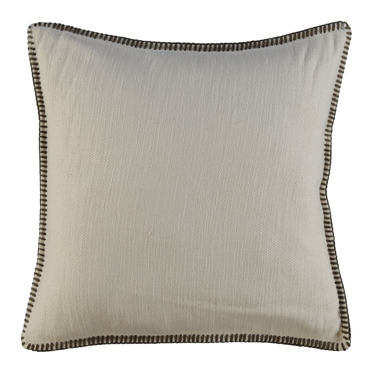 Cushion Cover - Simple / Brown Stitched