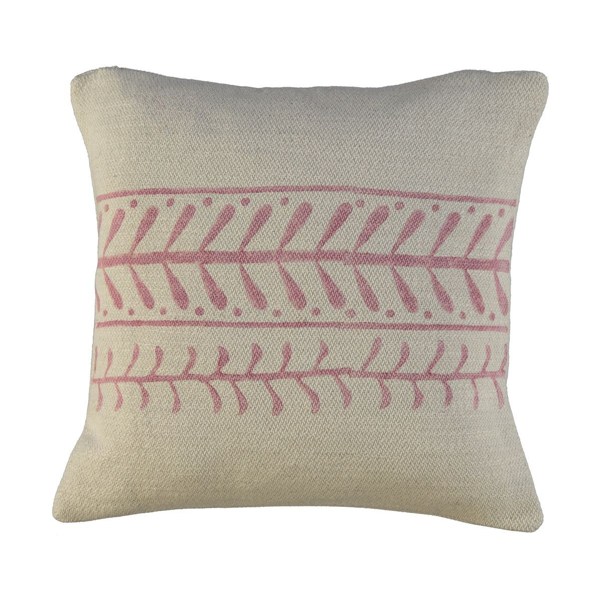 Cushion Cover / 15 Hand Printed - Dusty Rose