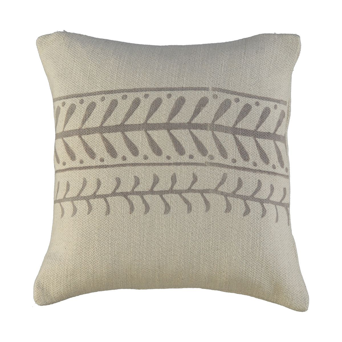 Cushion Cover / 15 Hand Printed - Beige