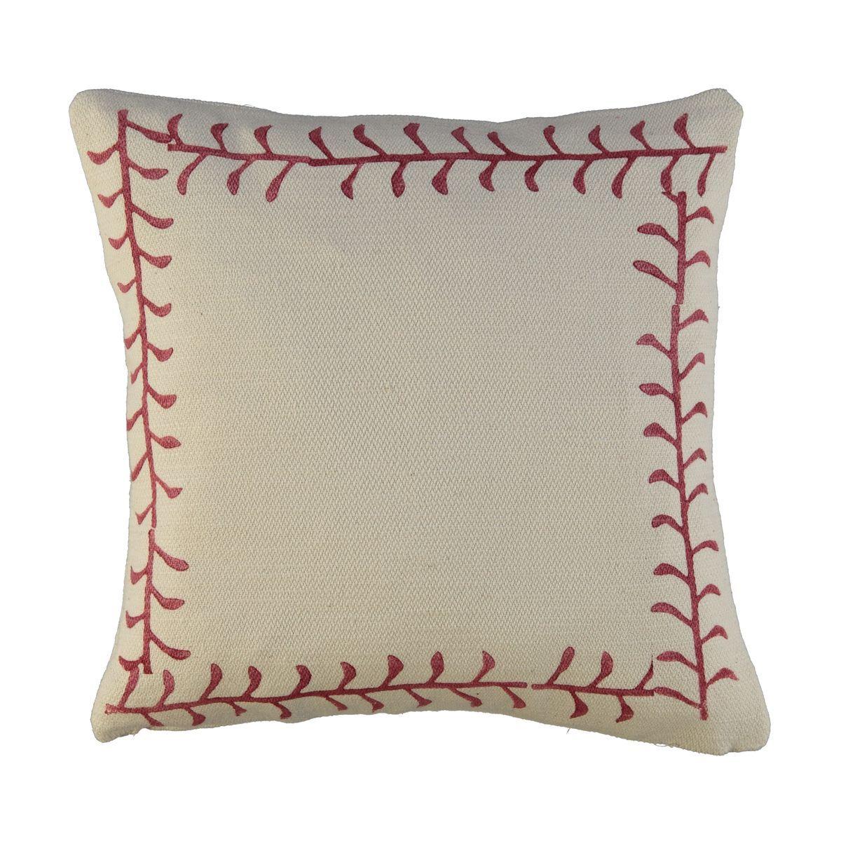 Cushion Cover / 16 Hand Printed - Bordeaux