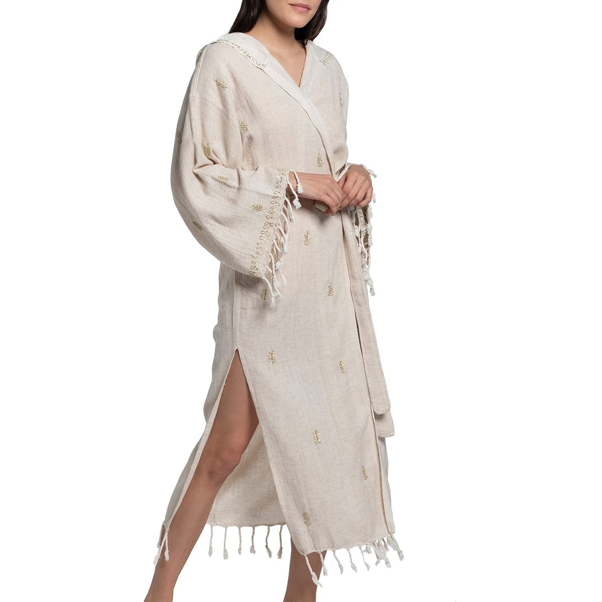 Dressing Gown - Hand Beaded / Gold