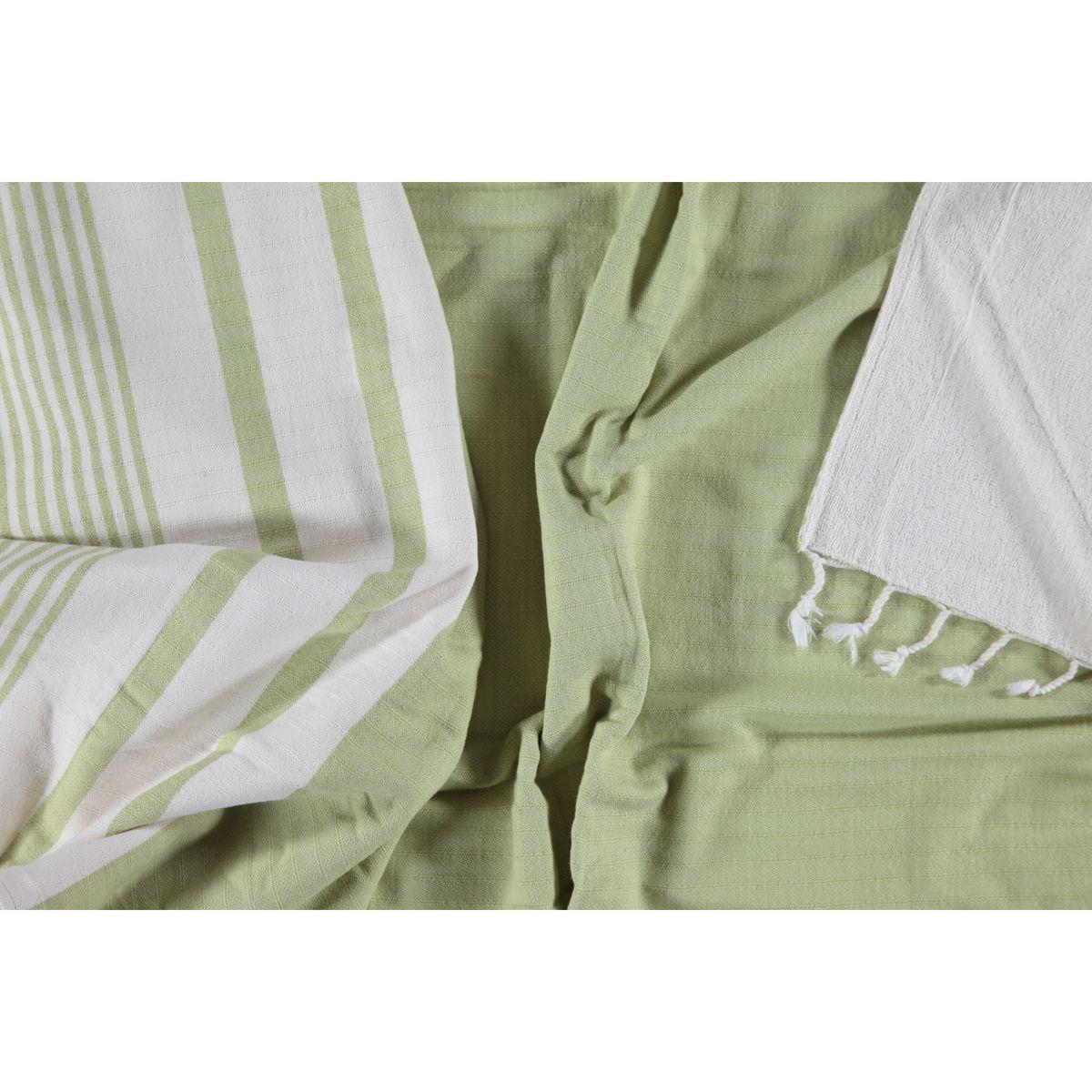 Peştemal Havlulu Tabiat - Çift Yüzlü / Yeşil