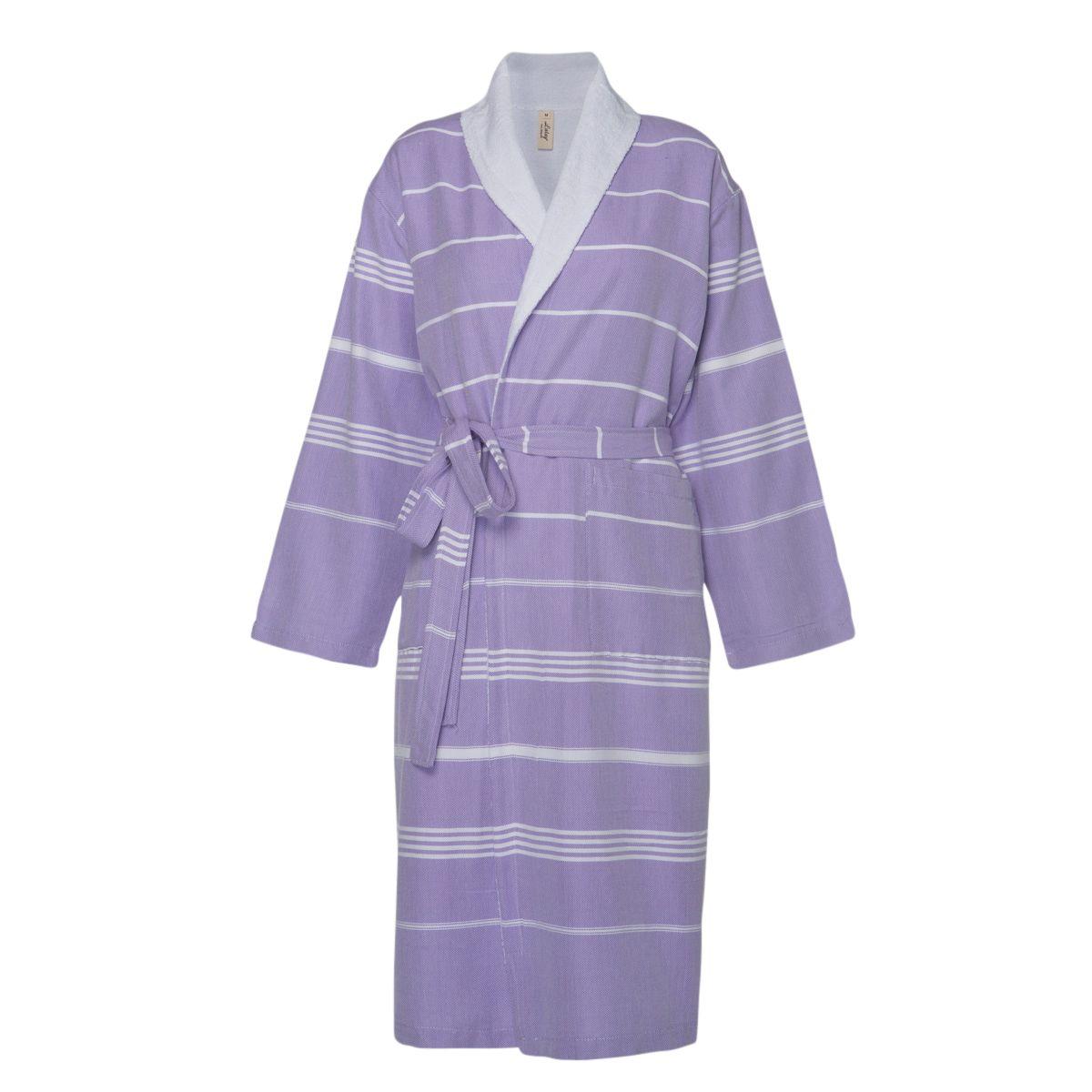 Bathrobe Leyla / With Towel Lining - Dark Lilac