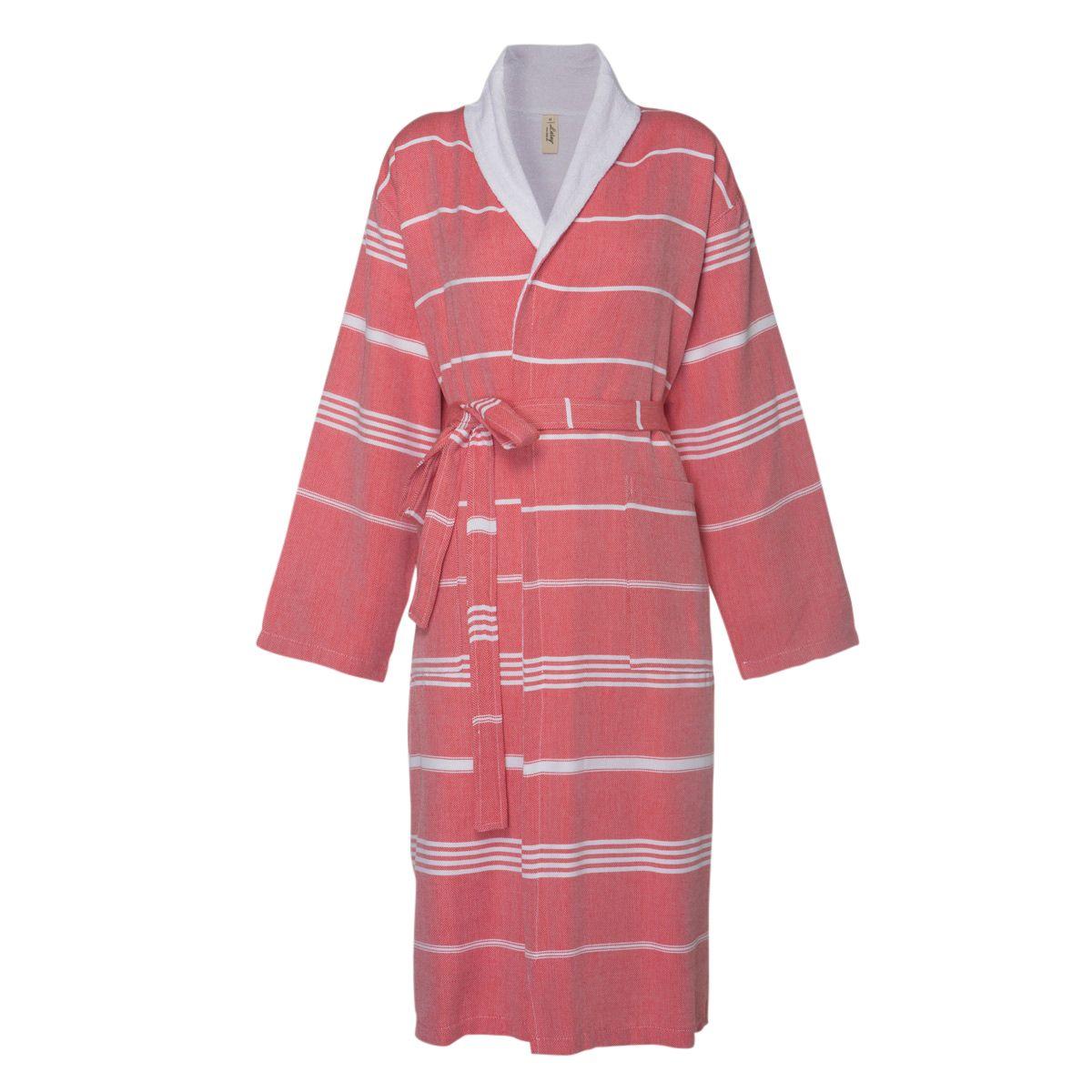 Bathrobe Leyla / With Towel Lining - Red