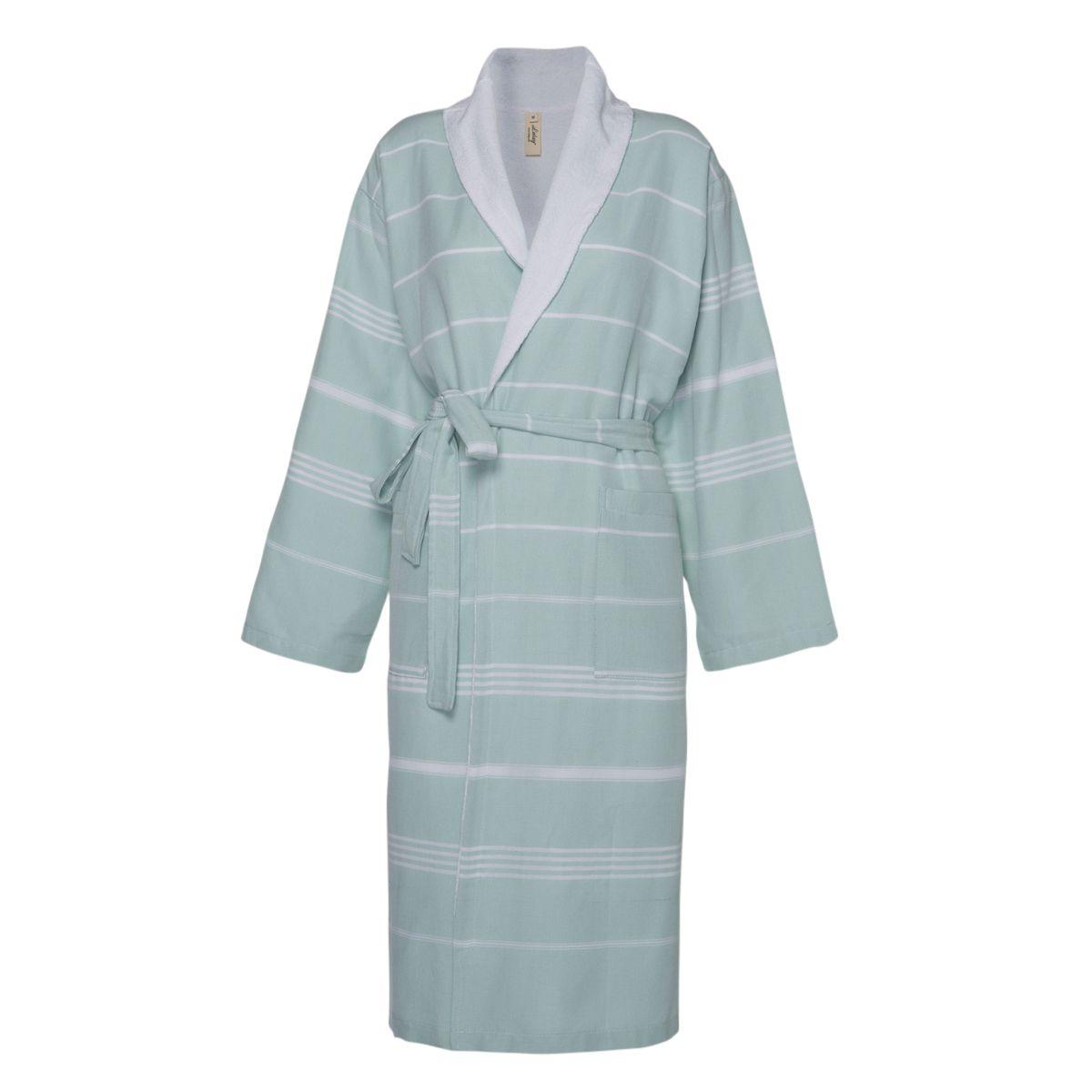 Bathrobe Leyla / With Towel Lining - Mint