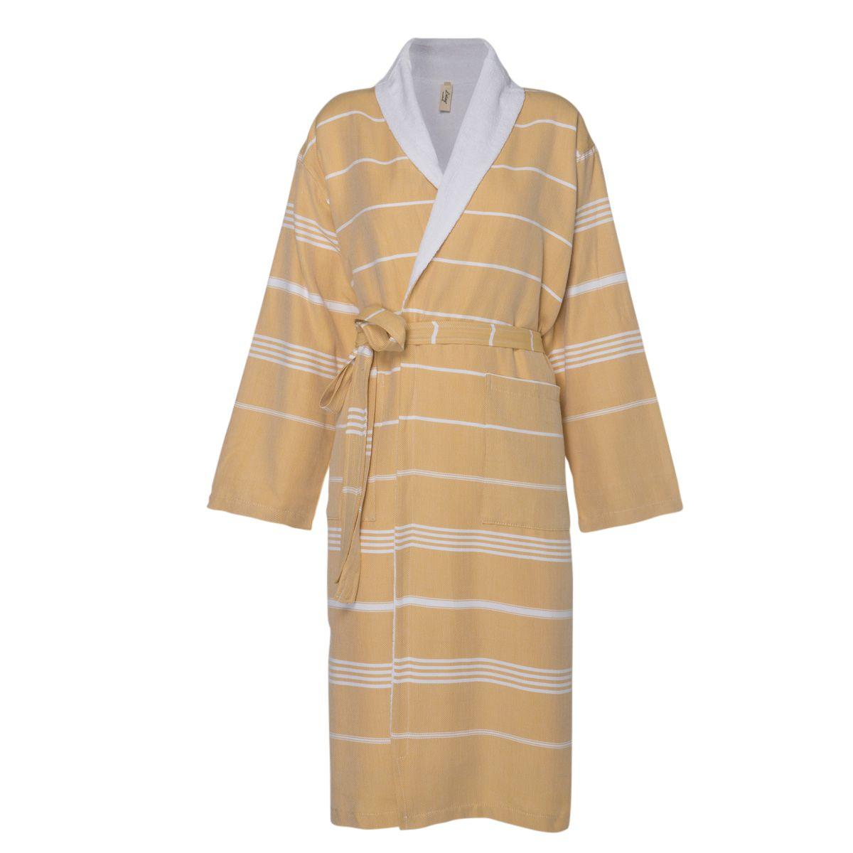 Bathrobe Leyla / With Towel Lining - Yellow
