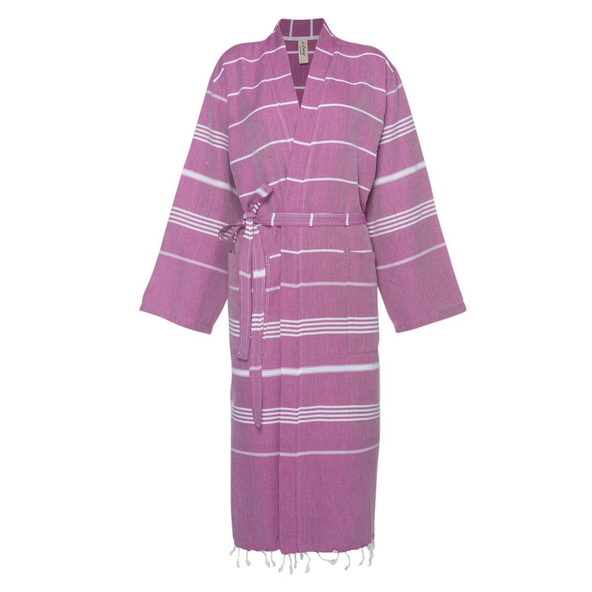 Bathrobe Leyla / Kimono Collar - Light Purple