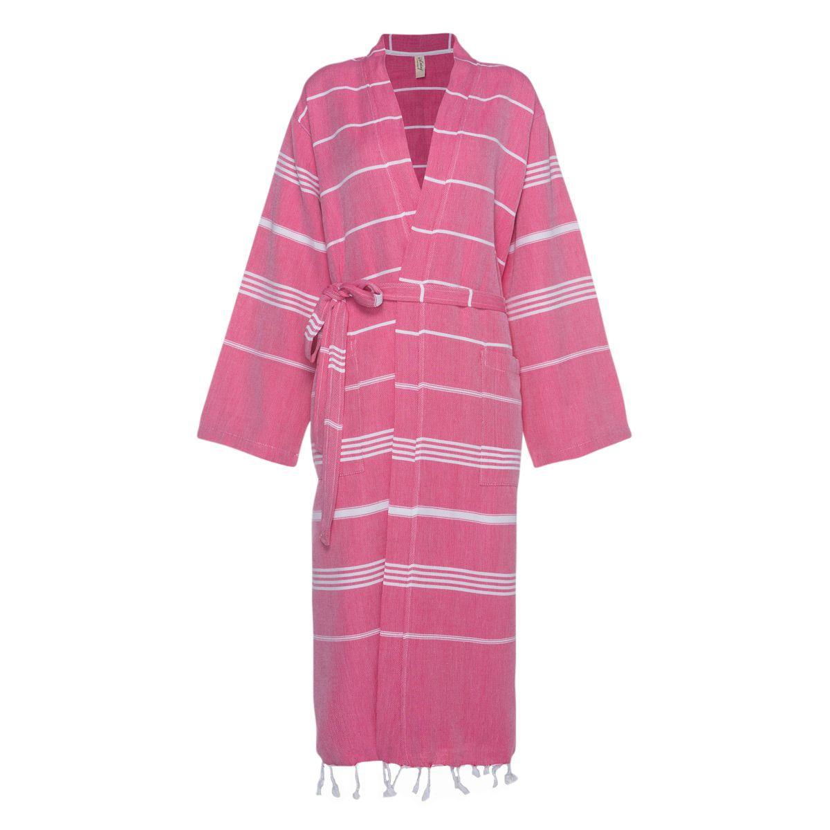 Bornoz Leyla / Kimono Yaka - Fuşya