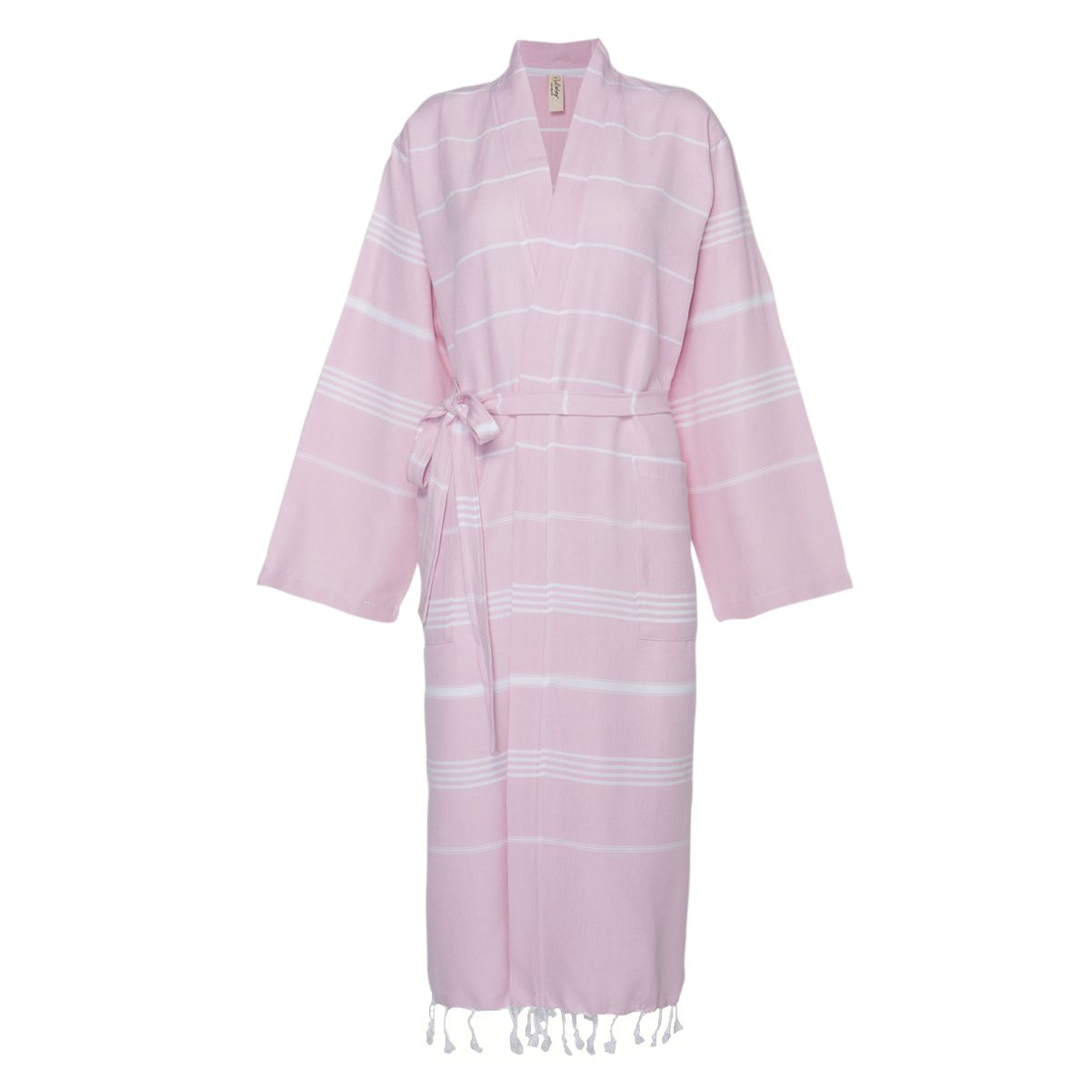 Bathrobe Leyla / Kimono Collar - Rose Pink