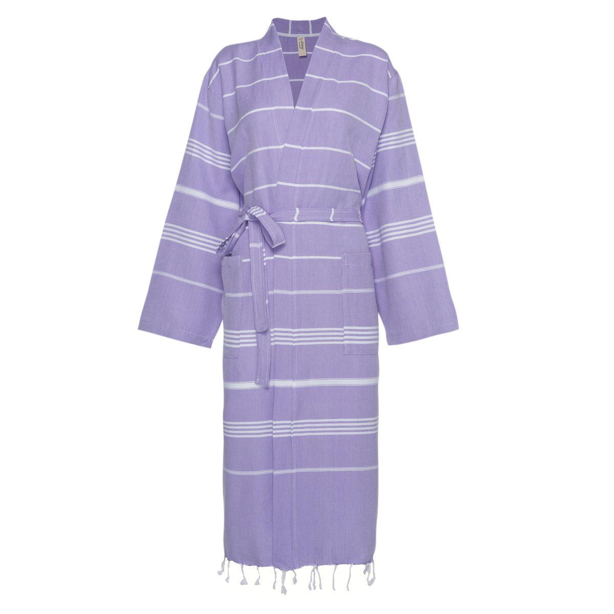 Bornoz Leyla / Kimono Yaka - Koyu Lila