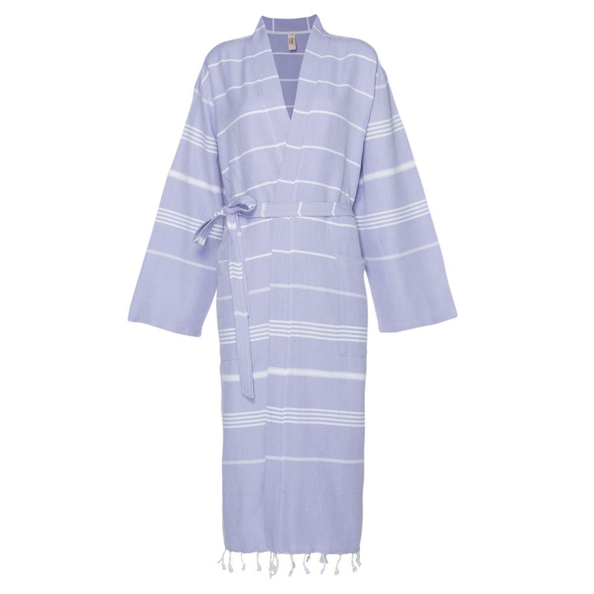 Bathrobe Leyla / Kimono Collar - Lavender