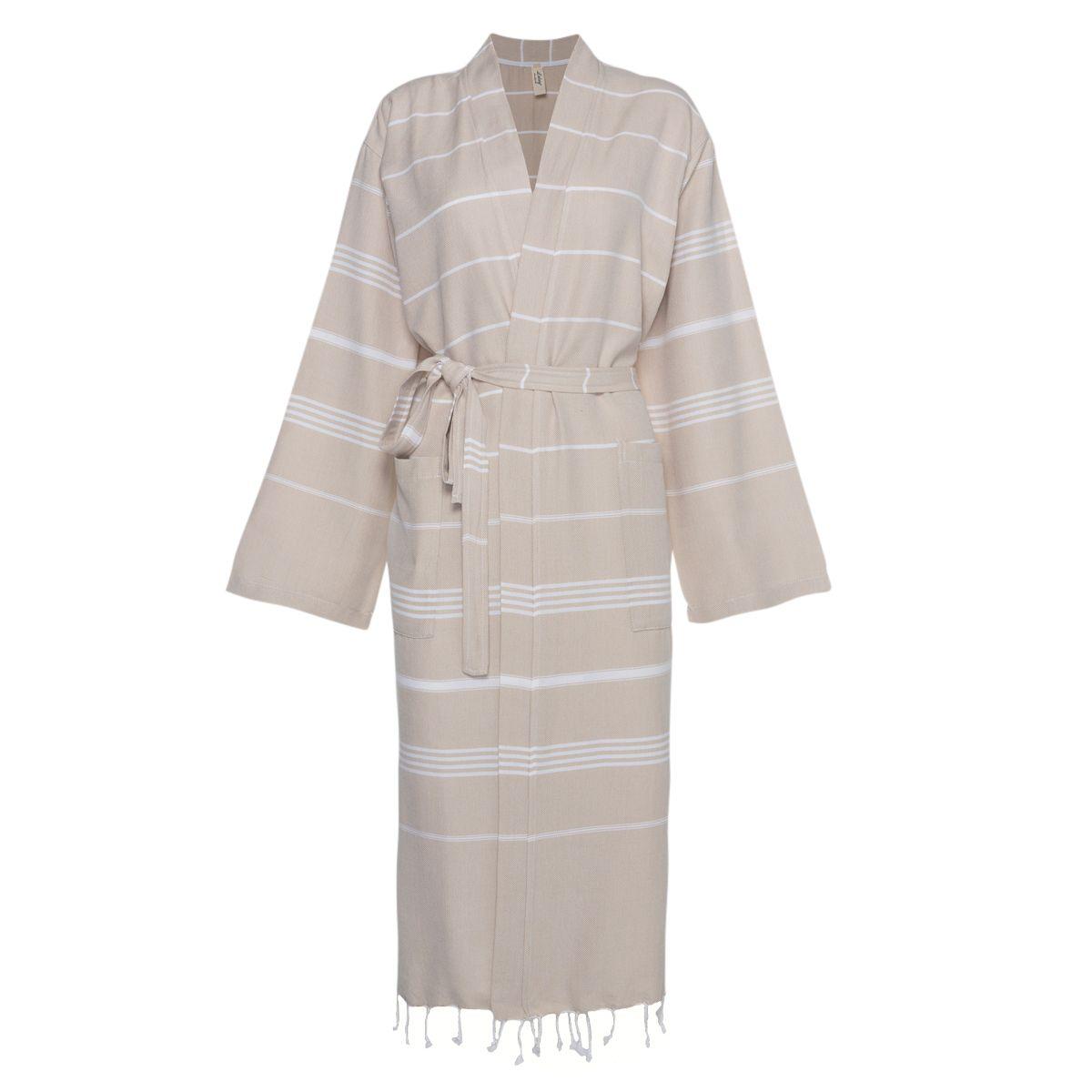 Bornoz Leyla / Kimono Yaka - Bej