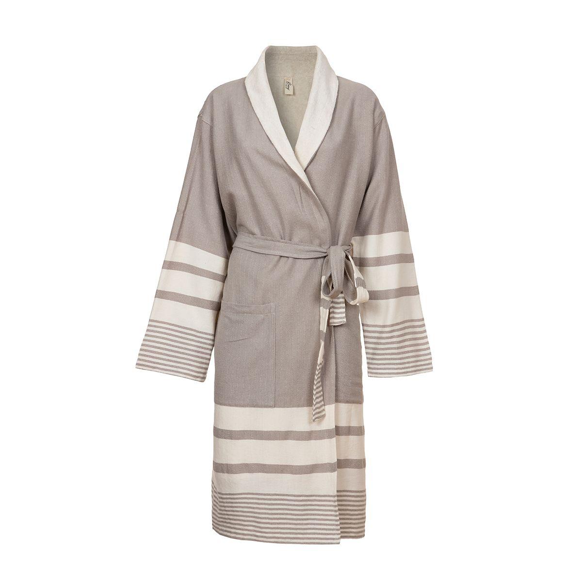 Bathrobe Tabiat with towel - Taupe