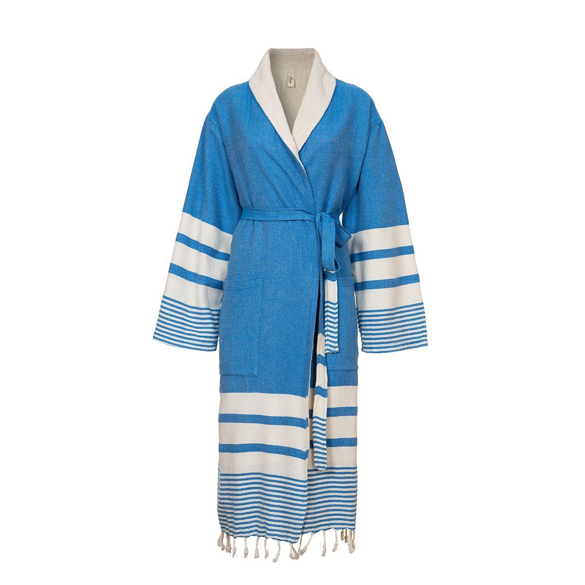 Bathrobe Tabiat with towel - Dark Blue