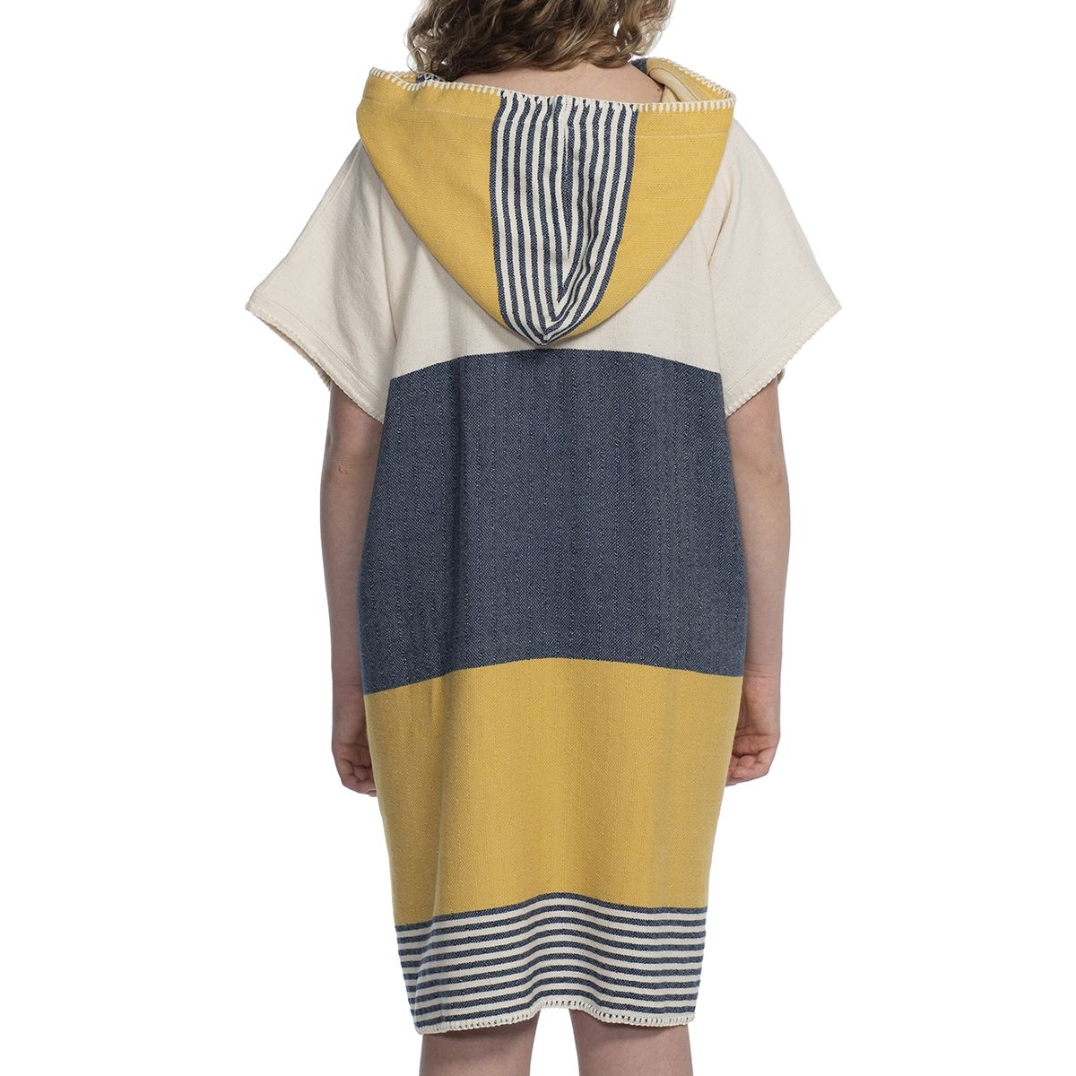 Adult Poncho - Twin Sultan / Navy - Yellow