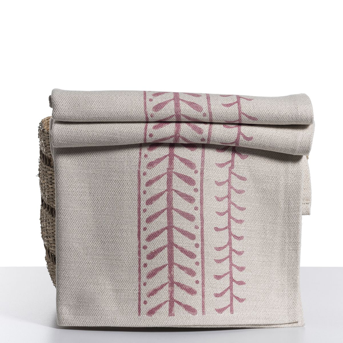 Throw / 15 Hand Printed - Dusty Rose