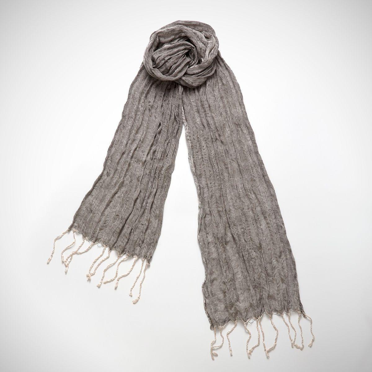 Burgu Scarf Linen & Silk - Black