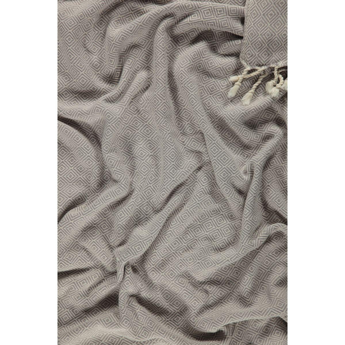 Peshtemal Diamond - Light Grey