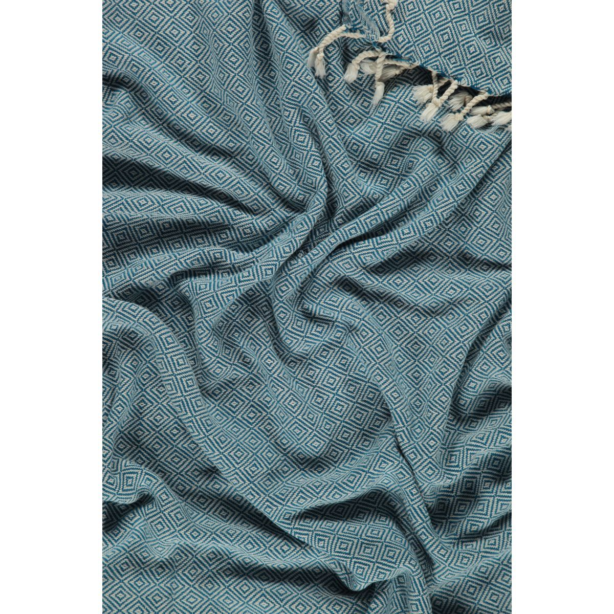 Peshtemal Diamond - Petrol Blue