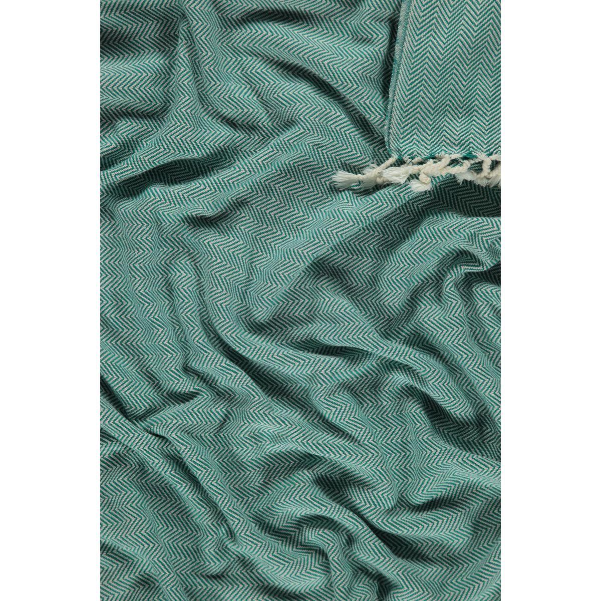 Peshtemal Zigzag - Fanfare Green