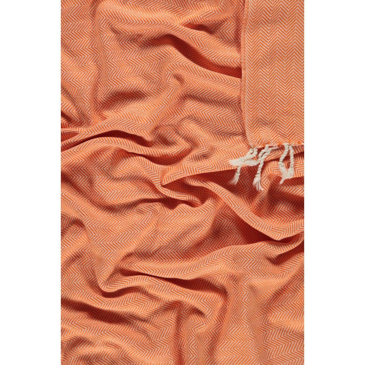 Peshtemal Zigzag - Orange