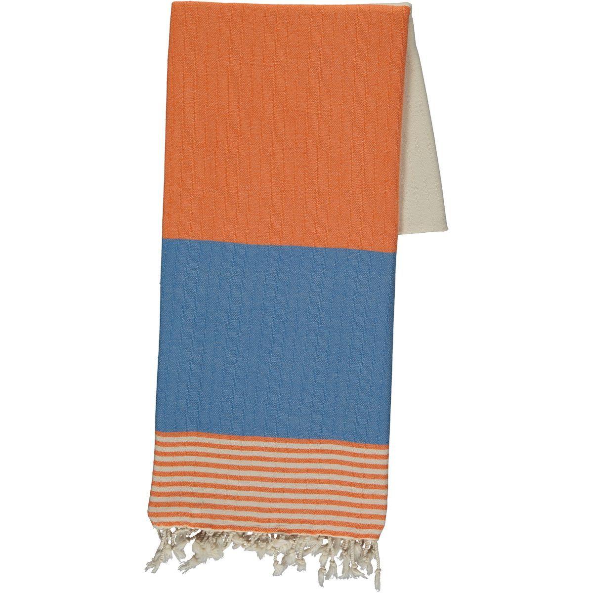 Peshtemal Twin Sultan - Orange / Dark Blue