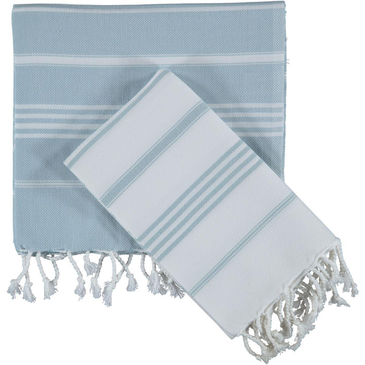 Peşkir Leyla - Açık Mavi Çizgili
