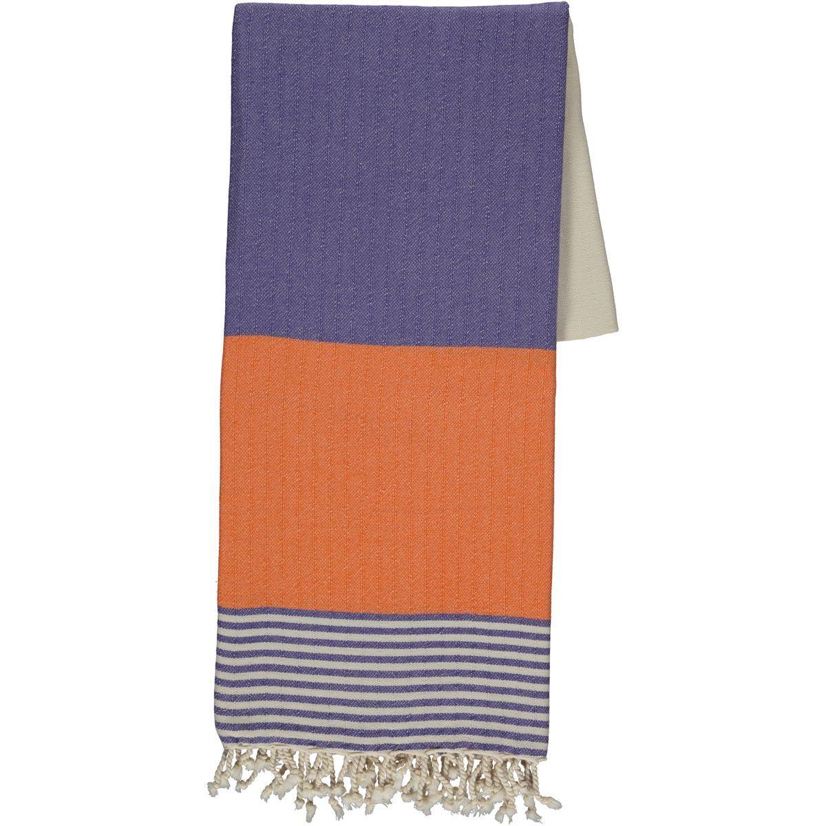 Peshtemal Twin Sultan - Violet / Orange
