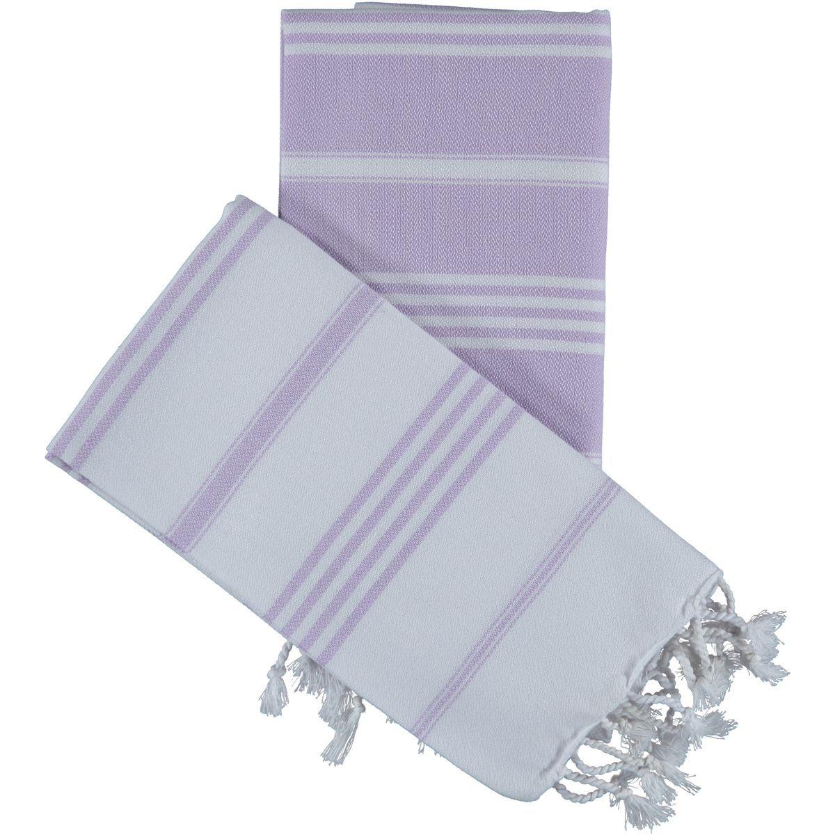 Peshkir Leyla / Lilac - Lavender stripes