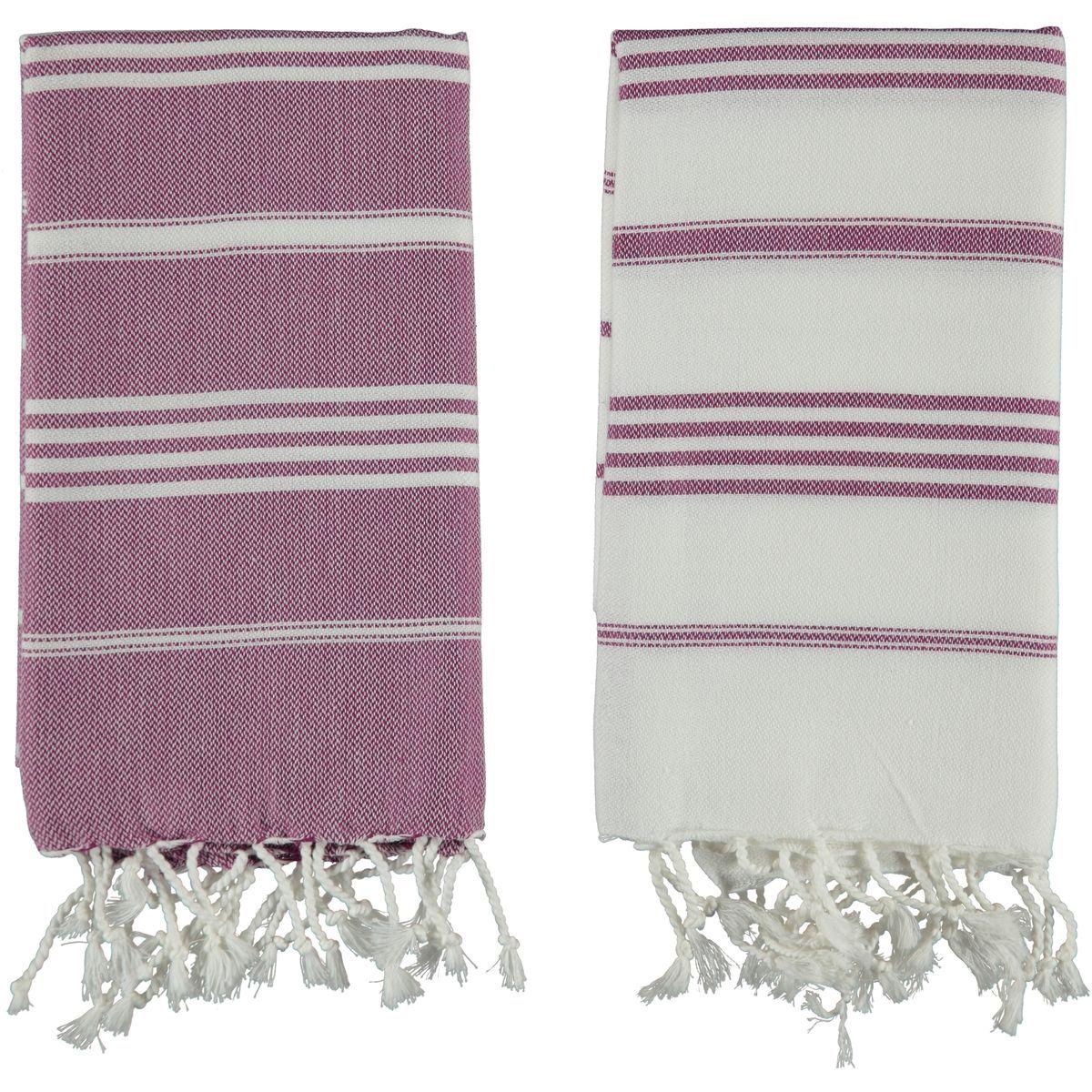 Peshkir Leyla / Light Purple Stripes