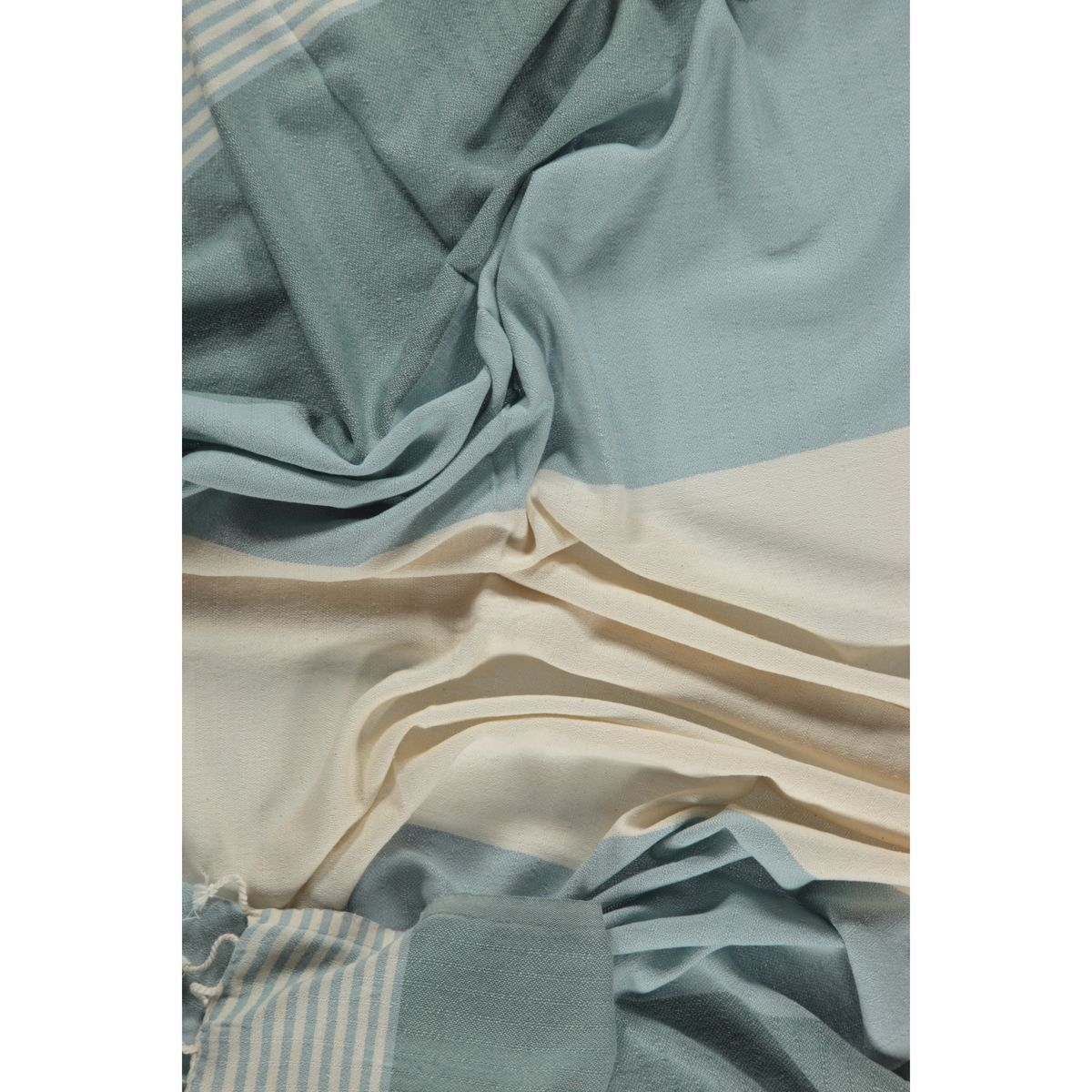 Peshtemal Twin Sultan - Light Blue / Almond Green